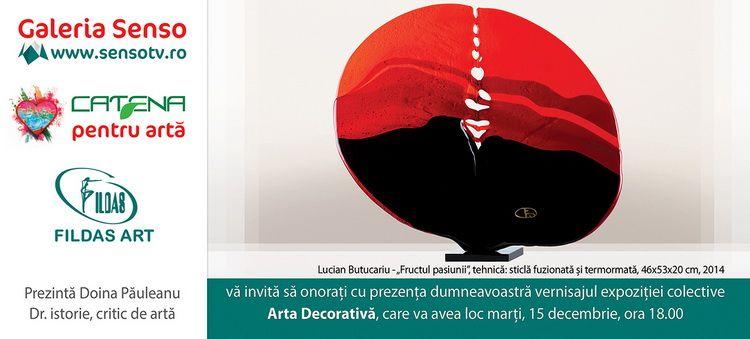 INVITATIE expozitie ARTA DECORATIVAGaleria SENSO TV