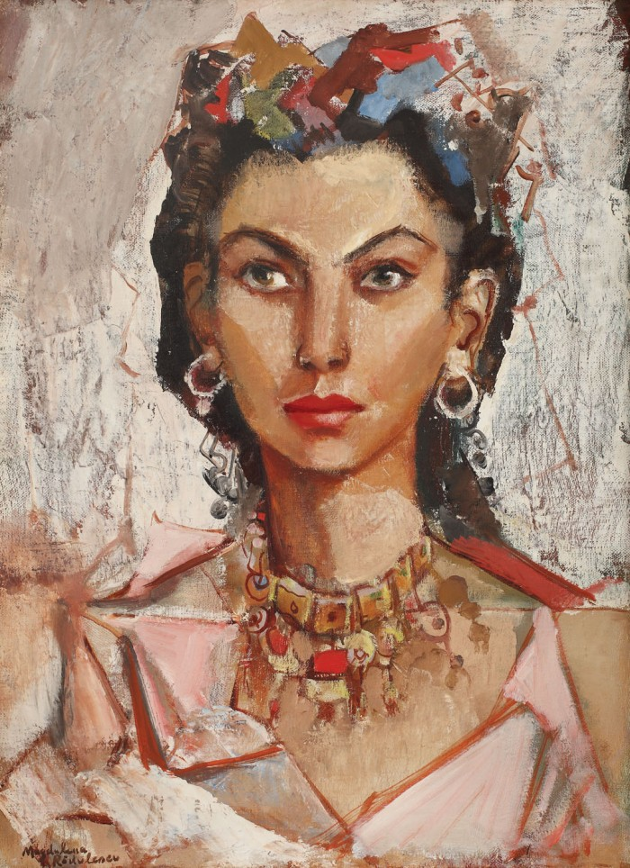 Magdalena Radulescu - Autoportret in costum oriental colectie particulara, lucrarea nu figureaza in expo