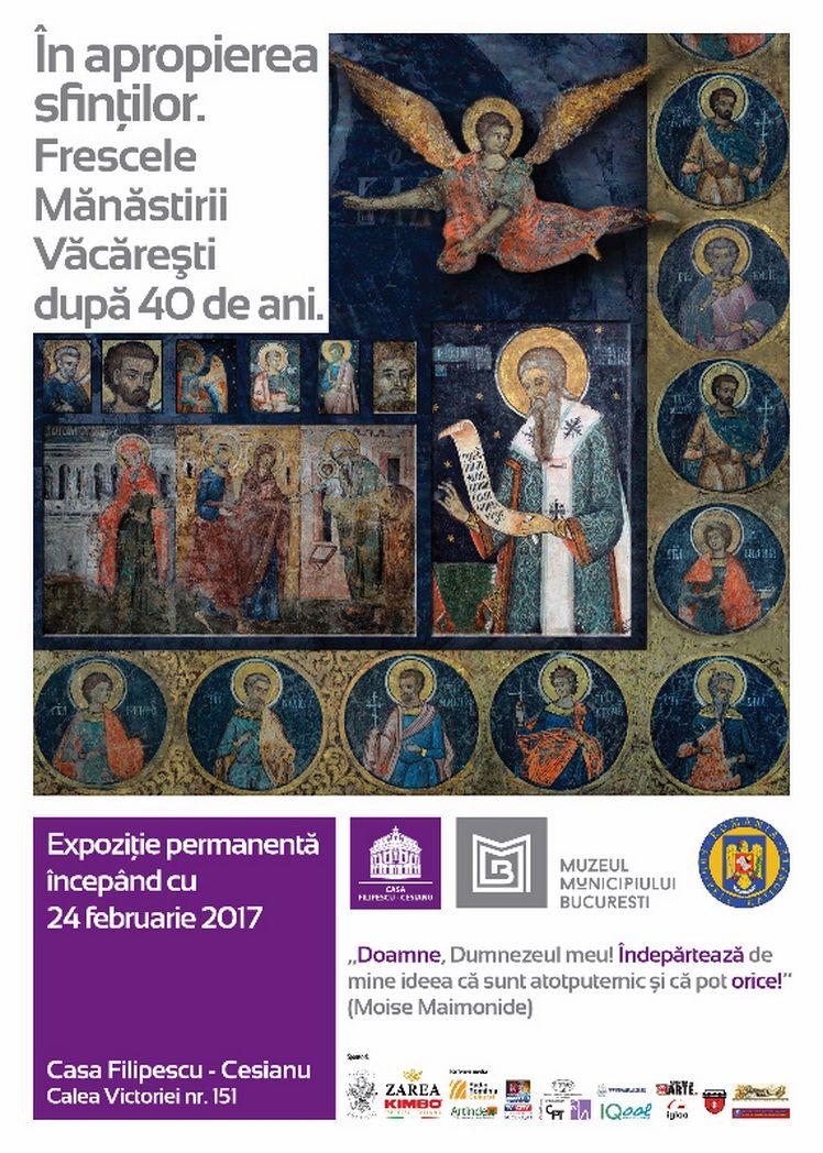 afis In apropierea sfintilor – frescele Manastirii Vacaresti dupa 40 de ani