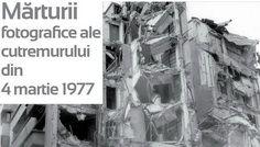 afis Marturii fotografice ale cutremurului din 4 martie 19g77