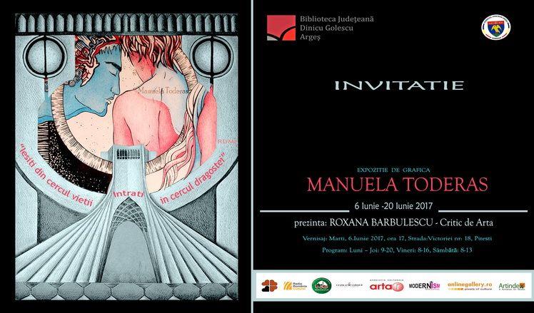 Invitatie expo Manuela Toderas Pitesti