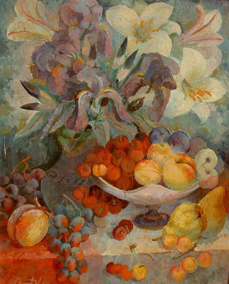 15. Vasile Onut, Vas cu flori si fructe I