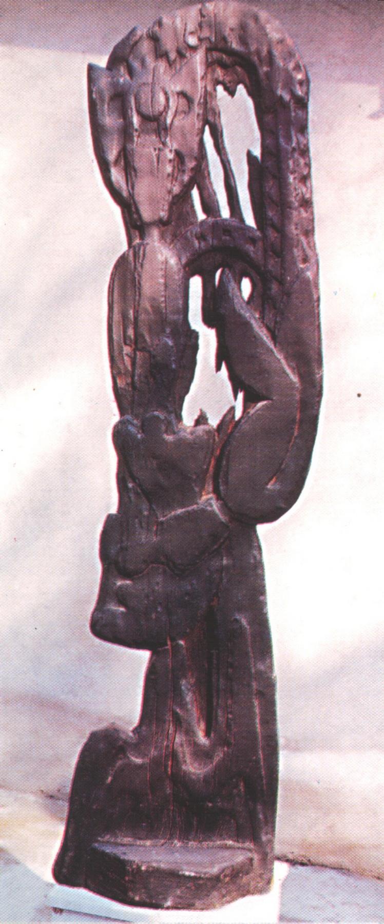2. Vasile Onuț, Masterul Manole, lemn, 136 x 32 x 17 cm (MAVG),jpg