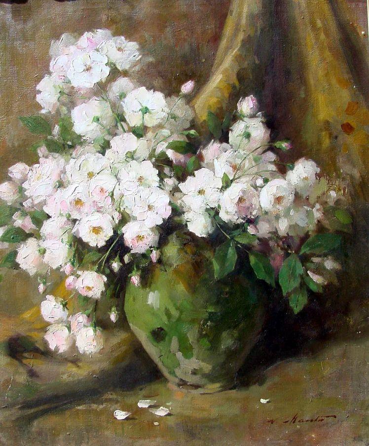 6. Nicolae Mantu, Trandafiri albi (Muzeul de Arta Vizuala Galati)
