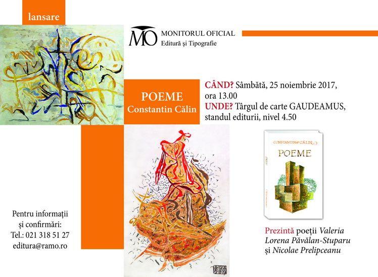 Invitatie Poeme Gaudeamus 2017