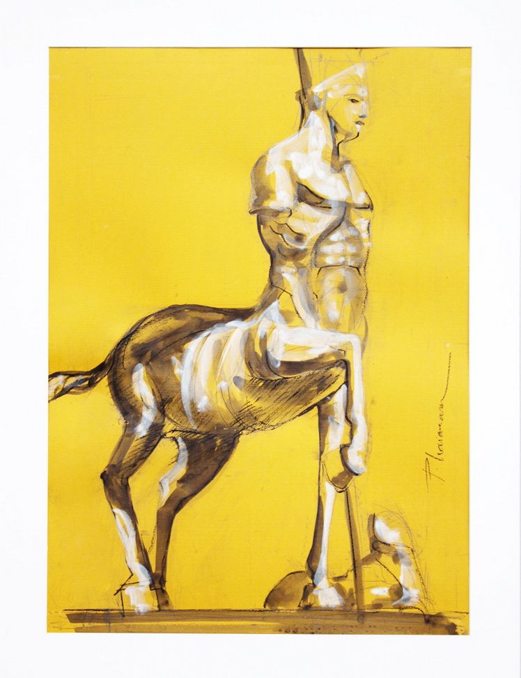 Centaur with Sword_Paula Craioveanu_ink on paper
