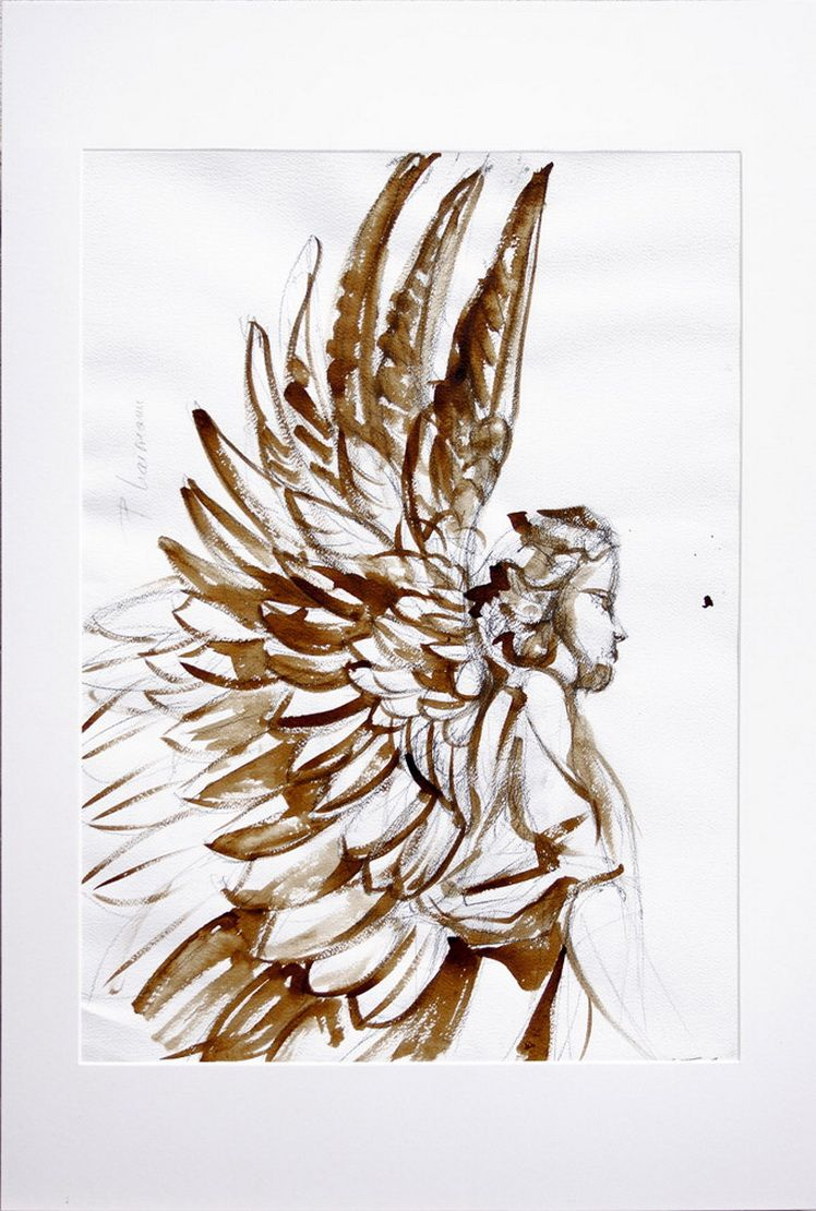Guardian angel_Paula Craioveanu_ink and graphite and paper