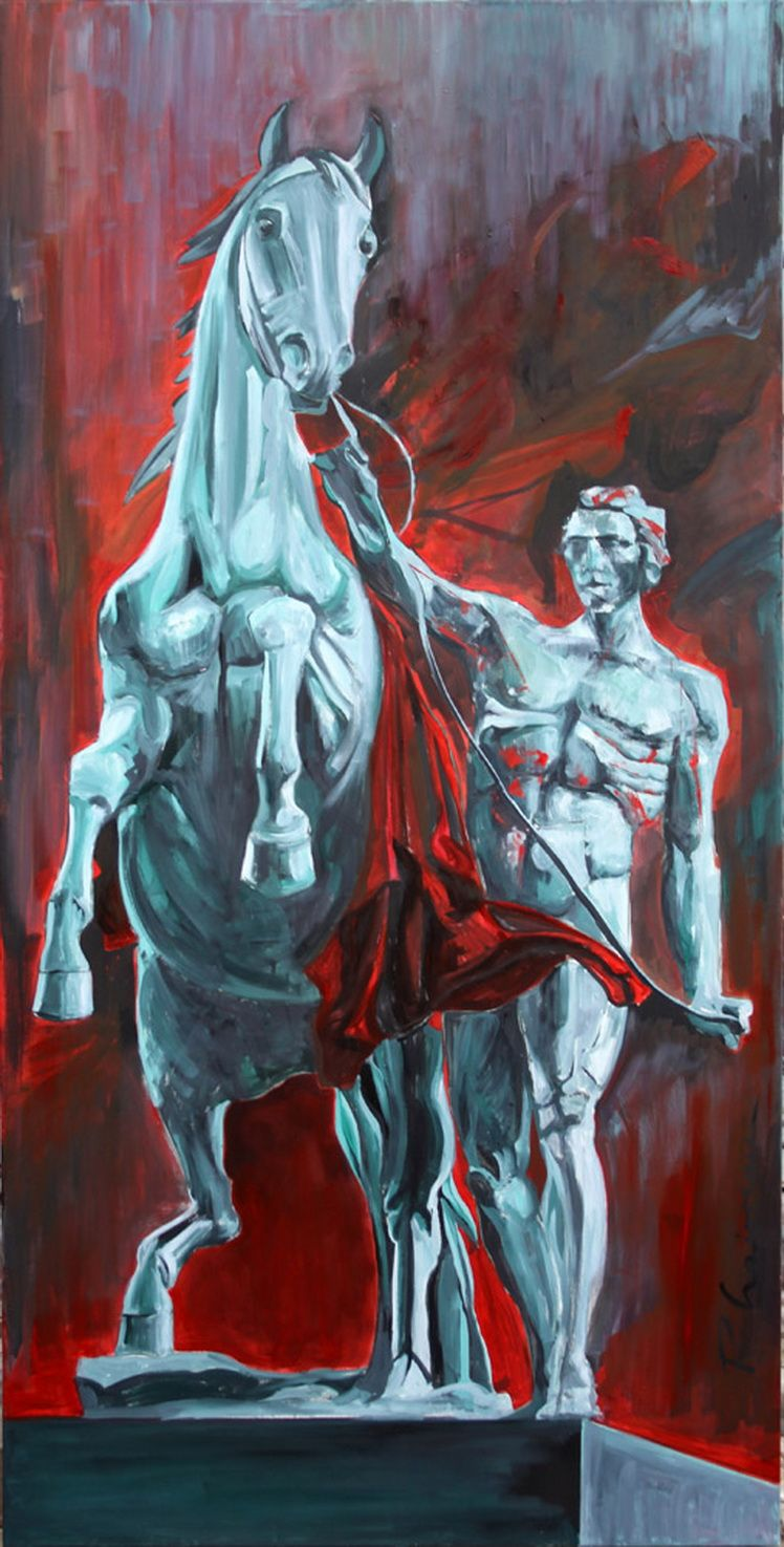 Horse Tamer_ Paula Craioveanu_oil on canvas