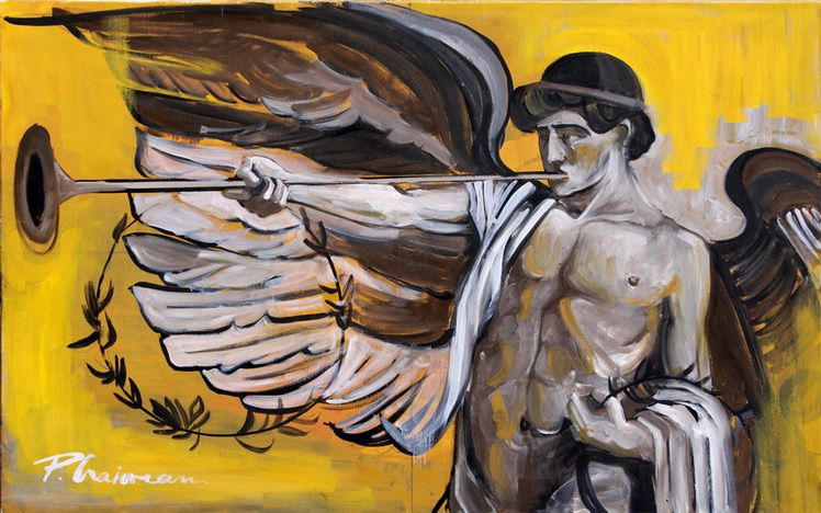 Winged Genius_Paula Craioveanu_oil on canvas