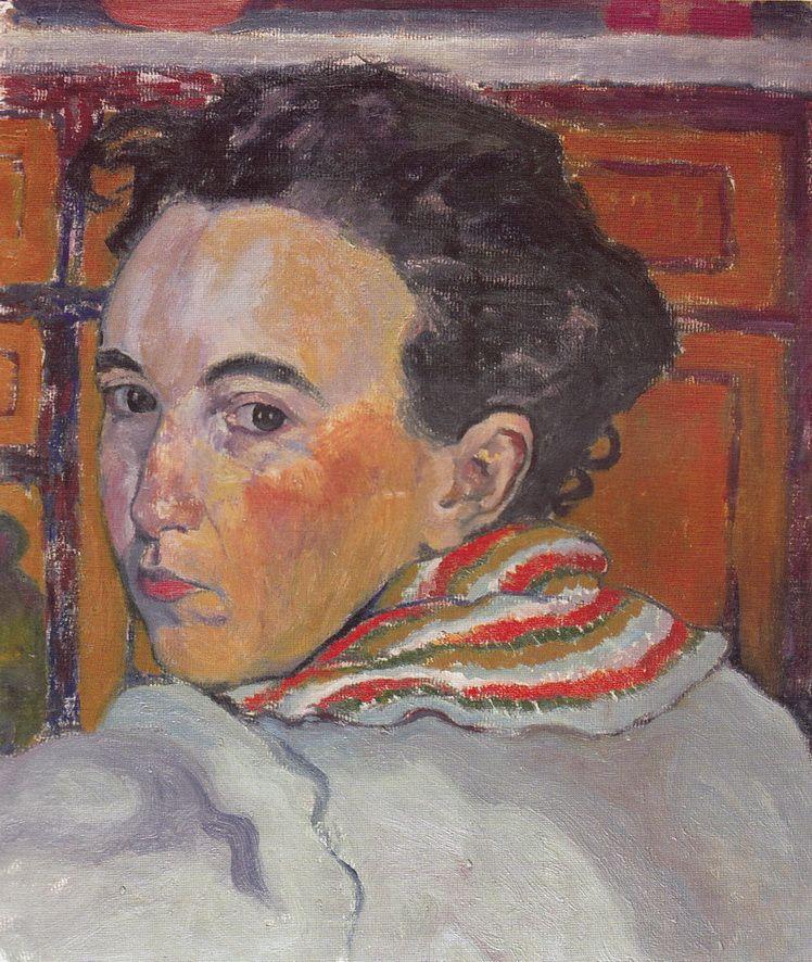 19. Dorothea (Lola) Schmierer-Roth,, Autoportret privind peste umăr