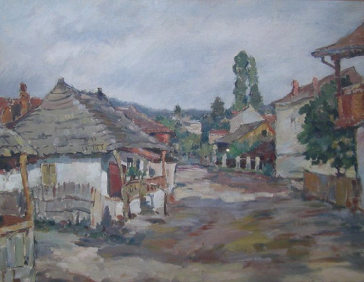 2. Mihail Gavrilov, Peisaj rural, u.p.c.,1938, 49,561 cm , col. particulara