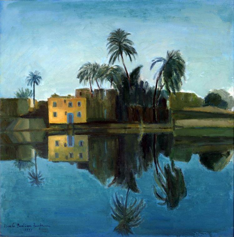 4. Ma_a Zamfirescu-Bedivan, Reflexe in apa Nilului - u.p., 48x48