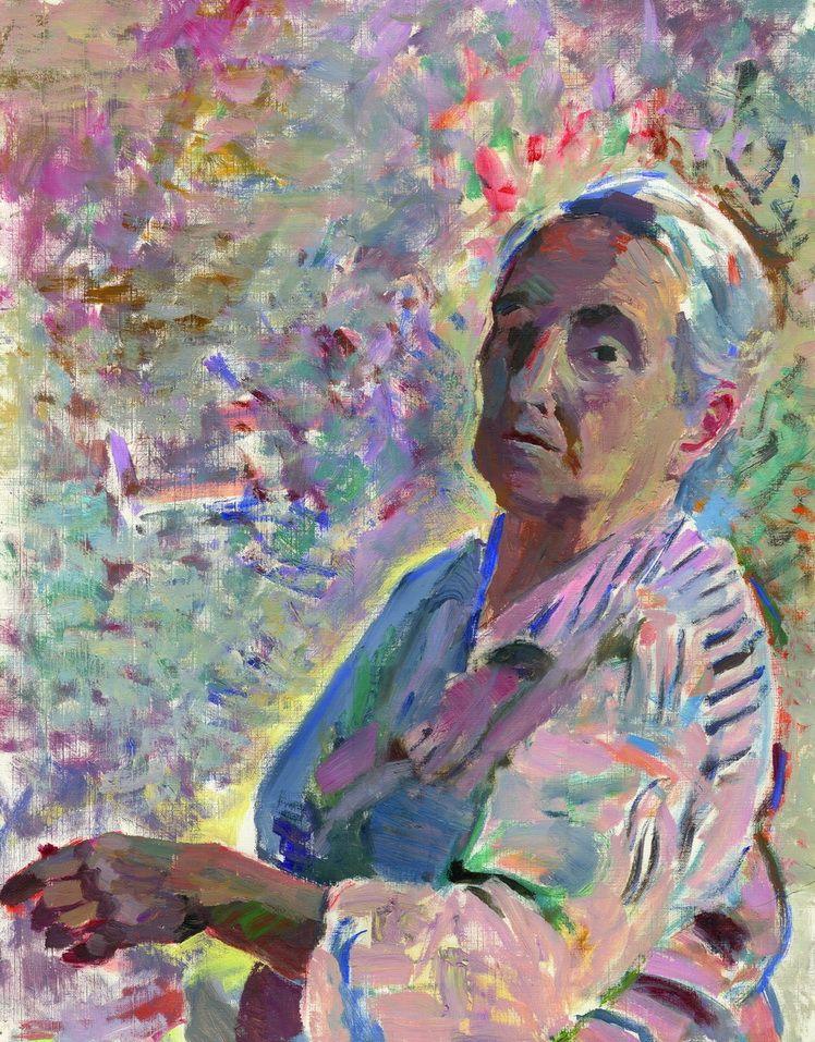 5. Dorothea (Lola) Schmierer-Roth, Femeie in semiprofil (Autoportret)
