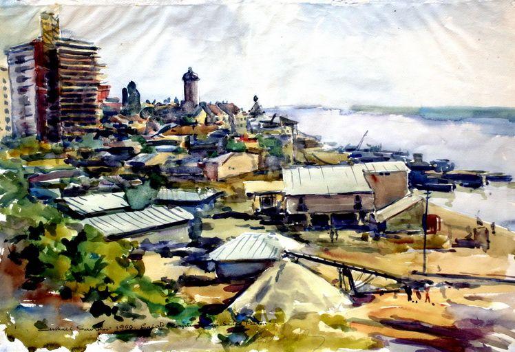 8. Mihail Gavrilov, Peisaj din Galati, acuarela, 4866 cm, 1960, MAVG