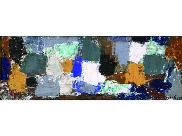 12. Jeanne Coppel, Abstractii geometrie, u.p., 18x50 cm, 1955