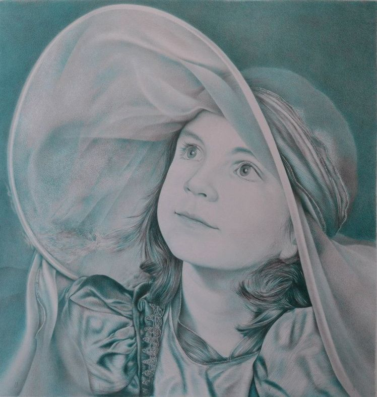 17. Gheorghe Miron, Ana, desen, creioane colorate, grafit