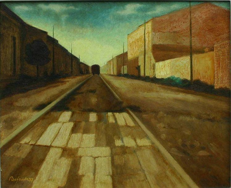 29. Marcel Bejan - Strada veche, u.c., 31 x 37 cm, (MAVG)